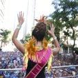 Preta Gil agitou o Centro do Rio de Janeiro na tarde deste domingo com o seu Bloco da Preta. Carolina Dieckmann, Fernanda Paes Leme, Sheron Menezzes, Ticiane Pinheiro e outros famosos curtiram a folia ao lado da cantora