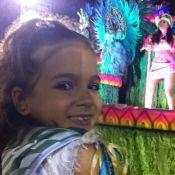 Mel Maia, de 9 anos, curte folia: 'Sou nova, mas é meu 2º Carnaval na Sapucaí!'