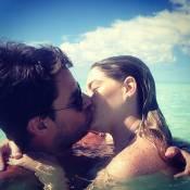 Grávida, Luma Costa curte o marido no Caribe e se declara: 'Até a eternidade'
