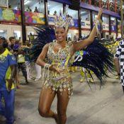Juliana Alves atravessa a Avenida com a perna sangrando no Desfile das Campeãs