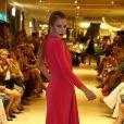 Fiorella Mattheis no desfile de lançamento da coleção de inverno da multimarca Fabric & Co, no Shopping Village Mall, na Barra da Tijuca, Zona Oeste do Rio de Janeiro, na noite desta quinta-feira, 13 de março de 2014