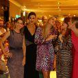 Thaila Ayala e Fiorella Mattheis no desfile de lançamento da coleção de inverno da multimarca Fabric & Co, no Shopping Village Mall, na Barra da Tijuca, Zona Oeste do Rio de Janeiro, na noite desta quinta-feira, 13 de março de 2014