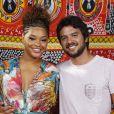 Juliana Alves e o namorado, Guilherme Duarte, no batizado na Roque, filho caçula de 8 meses de Regina Casé, em Mangaratiba, no Rio de Janeiro, no sábado, 15 de março de 2014
