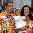 Regina Casé batiza o filho caçula, Roque, de 8 meses, em cerimônia ecumênica em Mangaratiba, Costa Verde do Rio de Janeiro, no sábado, 15 de março de 2014