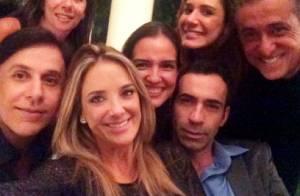 Ticiane Pinheiro janta pizza na casa de Faustão com o namorado, Cesar Tralli