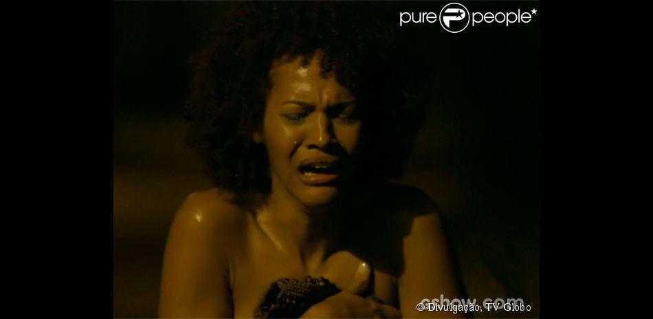 Neidinha (Jéssica Barbosa) foi estuprada por três homens, na segunda fase da novela 'Em Família'