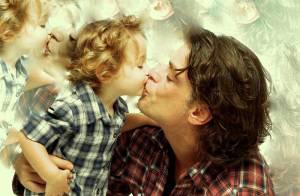 Fábio Assunção posta foto beijando a filha, Ella Felipa, no Facebook