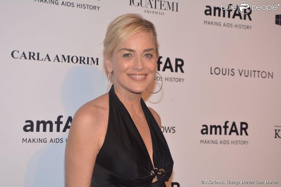 Sharon Stone foi internada no Hospital Sirio Libanes nesta terça-feira, 8 de abril de 2014