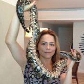Viviane Pasmanter não quer mais contracenar com cobra na novela 'Em Família'