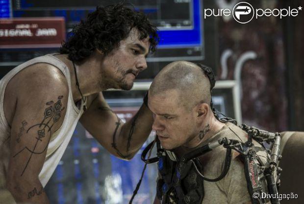 Wagner Moura esteve no filme 'Elysium' ao lado de Matt Damon