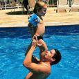 O paizão Jonatas Faro com seu filho, Guy, fruto do seu relacionamento com a atriz Daniele Winits