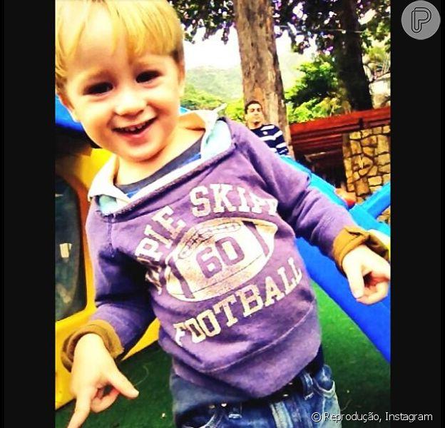 Guy, filho dos atores Danielle Winits e Jonatas Faro, completa 3 anos nesta segunda-feira, 28 de abril de 2014