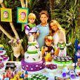 Guy, filho mais novo da atriz Danielle Winits, comemorou seu aniversário no último sábado, com uma festa temática do filme 'Toy Story'