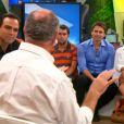 Luiz Felipe Scolari, o Felipão, respondeu a perguntas dos atores Murilo Rosa e Maitê Proença, convidados a participar do programa de estreia do novo 'Fantástico' neste domingo, 27 de abril de 2014