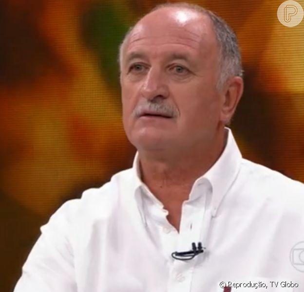 Luiz Felipe Scolari, técnico da Seleção Brasileira, demonstrou indignação com o racismo existente no futebol durante entrevista ao 'Fantástico' neste domingo, 27 de abril de 2014: 'É um absurdo'