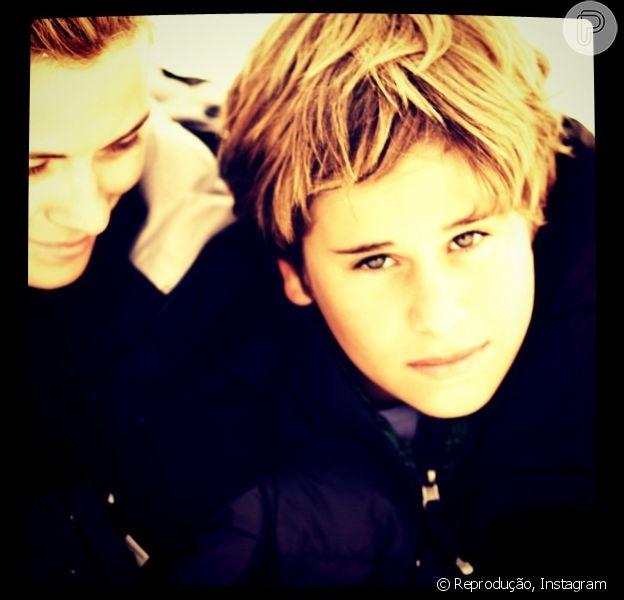 Davi Frota, filho mais velho da atriz Carolina Dieckmann com o ator Marcos Frota, completa 15 anos nesta sexta-feira, 16 de maio de 2014
