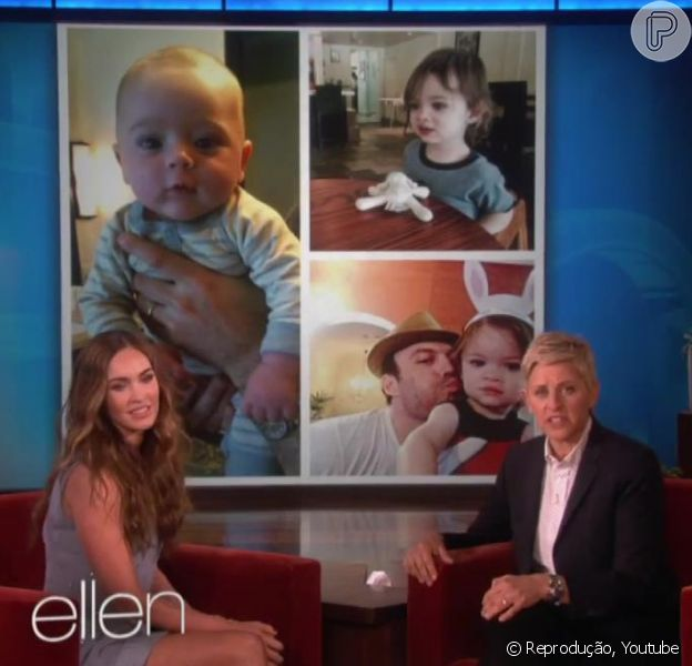 Megan Fox mostrou uma foto do filho caçula no programa de Ellen Degeneres