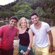 Angélica está de volta ao trabalho e recebe os irmãos Bruno Gissoni e Rodrigo Simas em Paraty