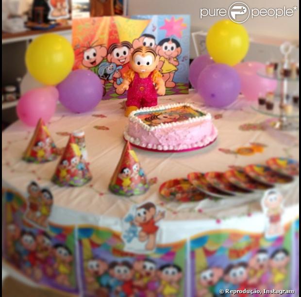 """Angélica publica foto da primeira festa de Eva, um """"mensário"""" de quatro meses, em 25 de janeiro de 2013"""