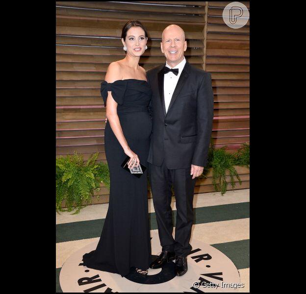 A quinta filha do ator Bruce Willis, Elvelyn Penn, fruto do casamento com a modelo Emma Heming, nasceu na última segunda-feira, 5 de maio de 2014