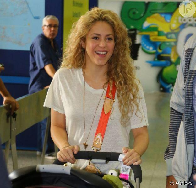 Shakira vem ao Brasil no mês que vem acompanhar o marido, Gerard Piqué, nos jogos da Copa do Mundo