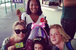 De férias, Letícia Spiller viaja para Disney com os dois filhos