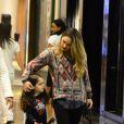 Tânia Mara trocou carícias com Maysa durante o passeio