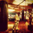 Caio Castro pega pesado no treino