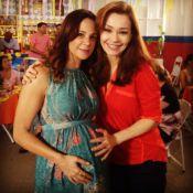 Vanessa Gerbelli grava 'Em Família' e exibe barrigão de grávida