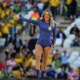 Claudia Leitte participou da abertura da Copa como uma das atrações da festa