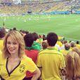 Mariana Ximenes também fez questão de torcer pelo Brasil de pertinho