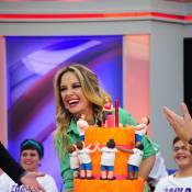 Ticiane Pinheiro comemora 38 anos com festa surpresa no 'Programa da tarde'
