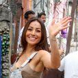 Sabrina Sato subiu o morro do Vidigal, na Zona Sul do Rio de Janeiro, para gravar o 'Programa da Sabrina', na Record