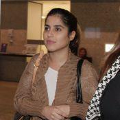 Camilla Camargo deixa hospital após acompanhar o parto de sua irmã, Wanessa