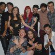 Eliminadas do 'SuperStar', as bandas Bicho do Pé e Move Over participaram do show de Ivete Sangalo neste domingo, 6 de julho de 2014, na Marina da Glória, no Rio