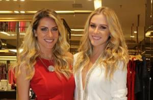 Fiorella Mattheis e Giovanna Ewbank dão show de simpatia em evento no Rio