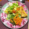 Antes de mostrar o corpo sequinho, Marina Ruy Barbosa compartilhou a foto de um prato colorido, com legumes, verduras e ovo
