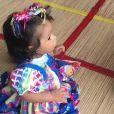 Juliana Alves mostrou filha, Yolanda, usando look junino nesta sexta-feira, 15 de junho de 2018