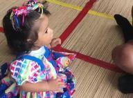 Junina! Filha de Juliana Alves, Yolanda usa vestido de bandeirinhas: 'Arraiá'