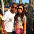 Depois do jogo, Fernanda Souza e outros famosos seguiram com Thiaguinho para um show em Niterói