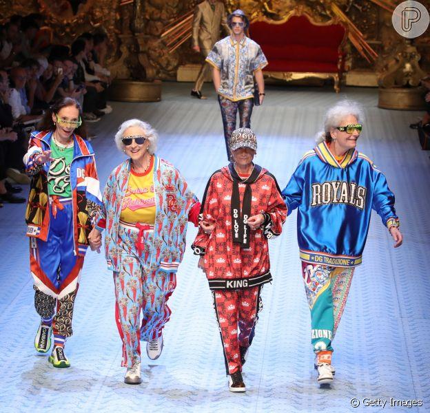 Dolce Gabbana aposta em diversidade para desfile na Semana de Moda Masculina de Milão que aconteceu nesse sábado (16)