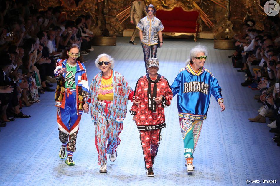 bf47375af34a5 Dolce Gabbana aposta em diversidade para desfile na Semana de Moda Masculina  de Milão que aconteceu