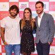 Hugo Moura, Deborah Secco e Sergio Guizé posaram lado a lado na pré-estreia do filme 'Mulheres Alteradas', no shopping Iguatemi, em São Paulo, nesta terça-feira, 19 de junho de 2018