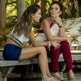 Rosa (Letícia Colin) descobre que Laureta (Adriana Esteves) e Karola (Deborah Secco) sequestraram Valentim (Danilo Mesquita) na novela 'Segundo Sol'