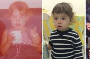 Luana Piovani mostra semelhanças com o filho, Dom, em foto antiga