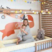 Andressa Suita posa com filho, Gabriel, no quarto dele: 'Caminha nova'. Foto!