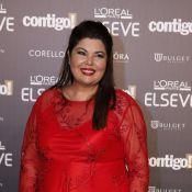Fabiana Karla usa vestido da filha em premiação: 'Para me sentir mais jovem'