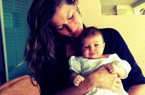 Gisele Bündchen mostra, pela primeira vez, rosto da filha, Vivian: 'Amor é tudo'