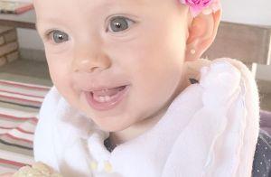 Filha de Eliana, Manuela mostra dentinhos em foto: 'Primeiro milho na espiga'