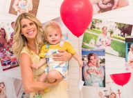 Karina Bacchi comemora 1 ano do filho, Enrico, com festa temática: 'Aquarela'